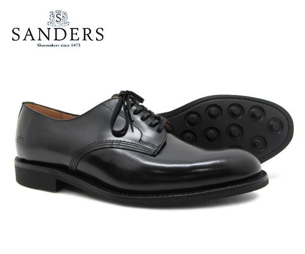 SANDERS サンダース Offi Shoe オフィサー シュー 1384B ブラック メンズ ビジネス シューズ BLACK 〔FL〕【あす楽】
