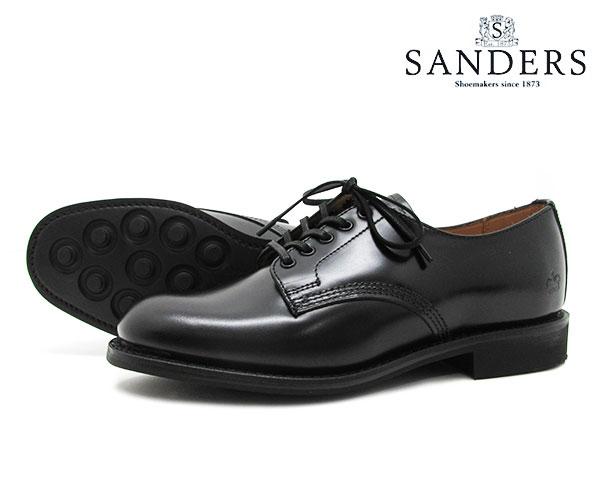 【お手入れ用山羊毛ブラシプレゼント中♪】SANDERS サンダース Female Plain Toe Shoe レディース プレーン トゥ シュー 1522B ブラック ビジネス シューズ BLACK 〔FL〕【あす楽】