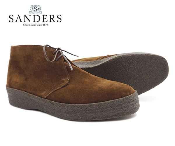 SANDERS サンダース ブリット チャッカ メンズ Brit Chukka 9877PSS Snuff Brown Suede ブラウン スエード ブーツ〔FL〕【あす楽】