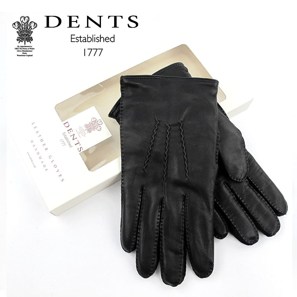 【S】DENTS レザー 手袋 メンズ 羊革 カシミヤライニング ストーデンツ ヘアシープ STOWE HAIRSHEEP CASHMERE LINER 15-1035〔FL〕