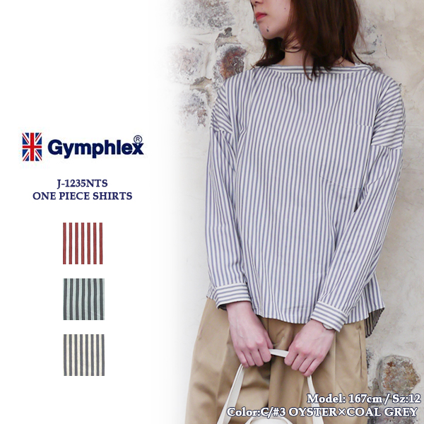 Gymphlex ジムフレックス コットンシャツJ-1235NTS 2COLOR STRIPE プルオーバー コットンシャツ〔SK〕