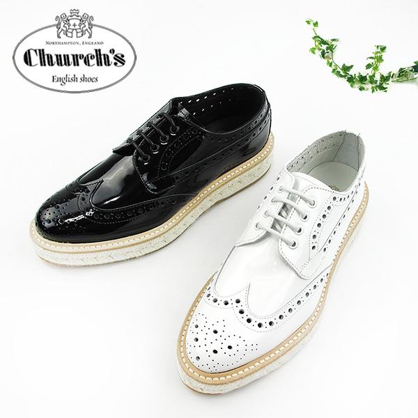 【S】Church's チャーチ エスパドリーユ レディースKELLY2 DE0123METAL PATENT〔SK〕