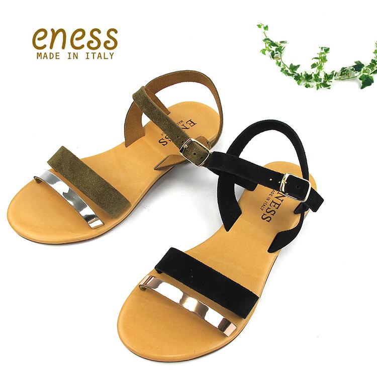 【S】ENESS エネス98892 バックベルト サンダル〔SK〕