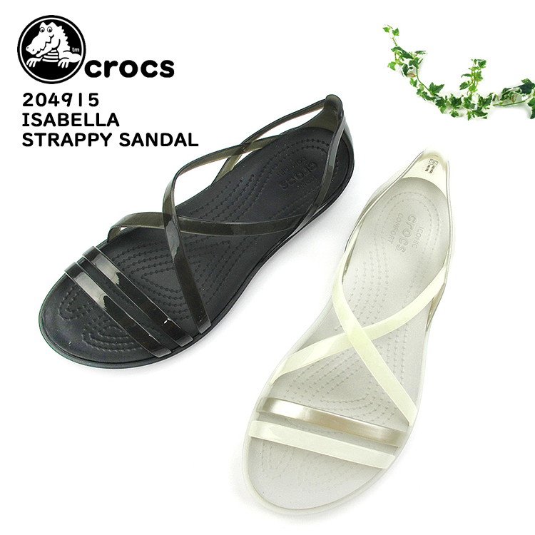 167e6022f10d CROCS clocks Lady s strap sandals  204915 ISABELLA STRAPPY SANDAL W light  weight  SK