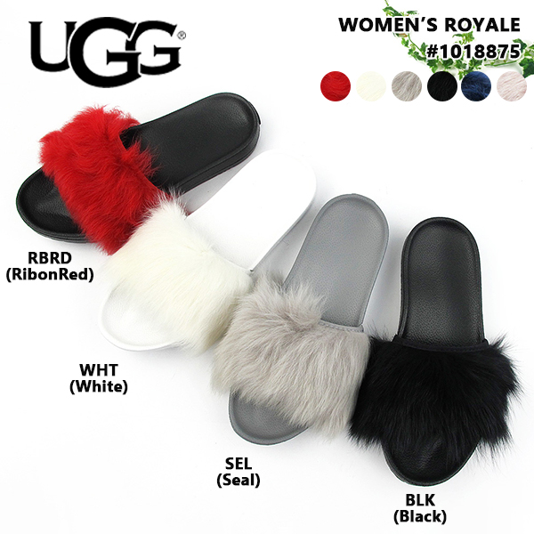 c6cc2475165 A goes wrong; Dis slide sandals sheepskin fur mouton women #1018875 UGG W  ROYALE [SK]