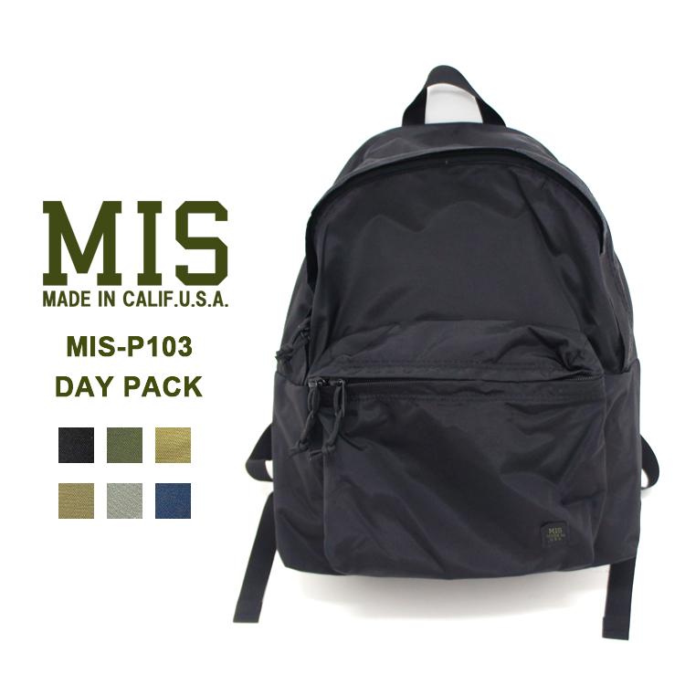MIS(エムアイエス) MIS-P103 DAY PACKバックパック リュック ユニセックス 機能的【あす楽】