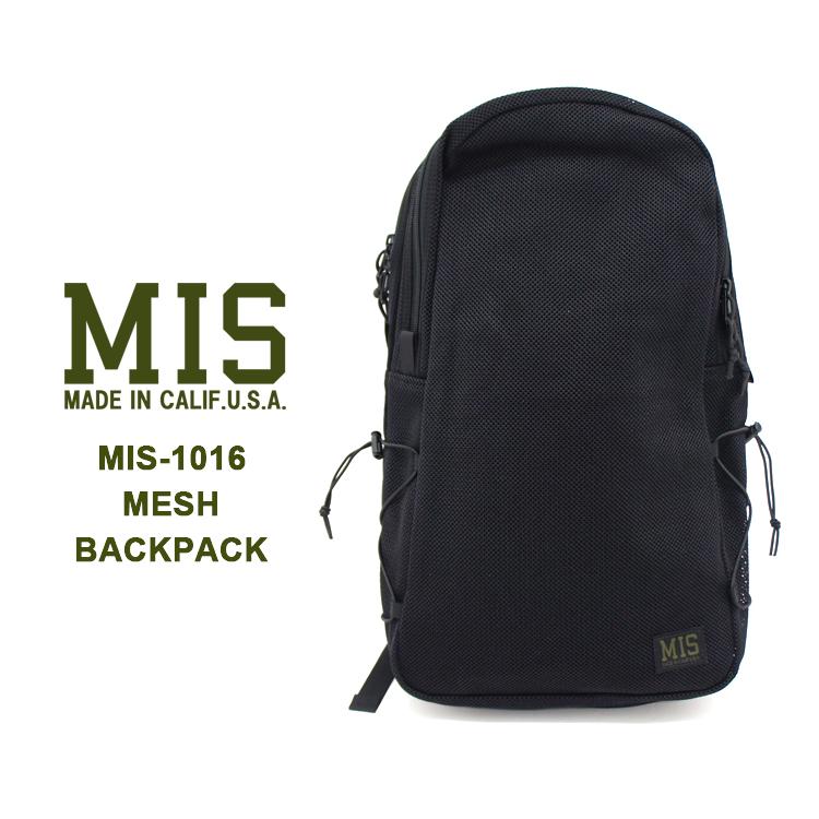 MIS(エムアイエス) MIS-1016 MESH BACKPACKバックパック リュック メッシュ ユニセックス 機能的【あす楽】