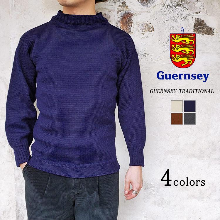 保温性抜群 毎日激安特売で 営業中です Guernsey WOOLENS ガンジーウーレンズ TRADITIONAL GUERNSEY メンズ トラディショナルガンジーセーター 特価キャンペーン SWEATER 〔FL〕 レディース