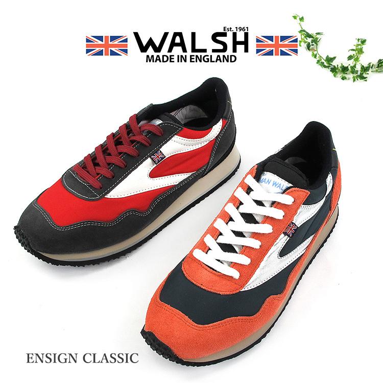 WALSH ENSIGN CLASSIC スニーカー ユニセックス 2020SS 軽量 UK5-9 2色 ENC71008/ENC71009〔SK〕
