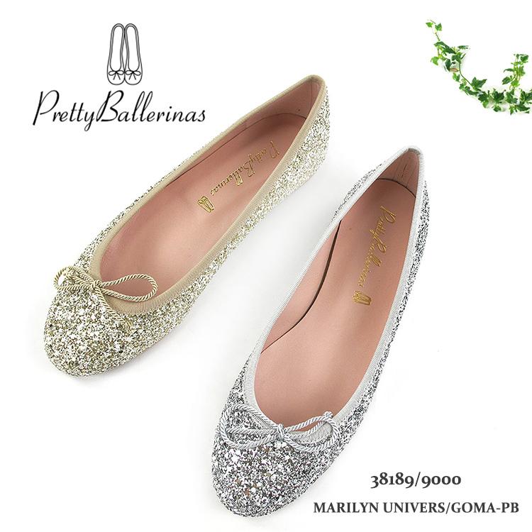 Pretty Ballerinas MARILYN UNIVERS/GOMA-PB バレエシューズ レディース 2020春夏 スエード EU37-39 2色 38189/9000〔SK〕
