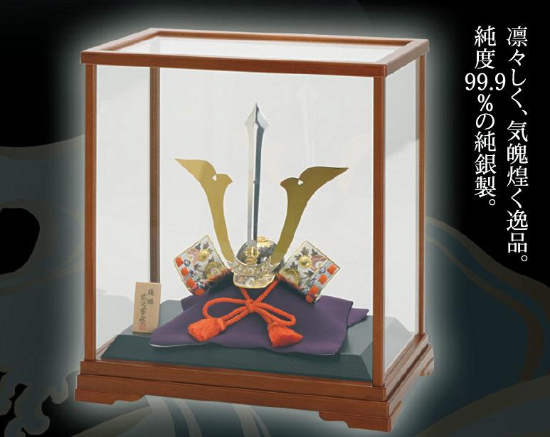 武比古作 純銀置物 兜剣付 3号