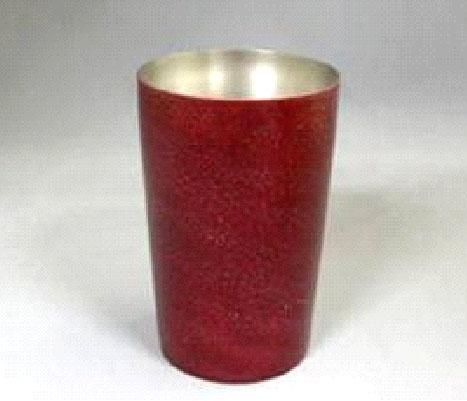 漆チタンカップ 中 紅色