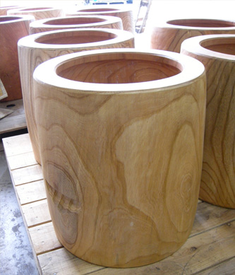 【代引支払不可】 欅・上野村・臼(1~2升臼(尺3))-サイズから選ぶ 臼 木製 杵臼 ウス うす 餅つき