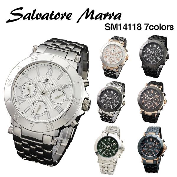 送料無料 プレゼントにおすすめ 時計と雑貨の通販サイトFLOAT サルバトーレマーラ 送料無料カード決済可能 Salvatore Marra 腕時計 SM14118 正規品 有名な カレンダー メンズ 24時間表示