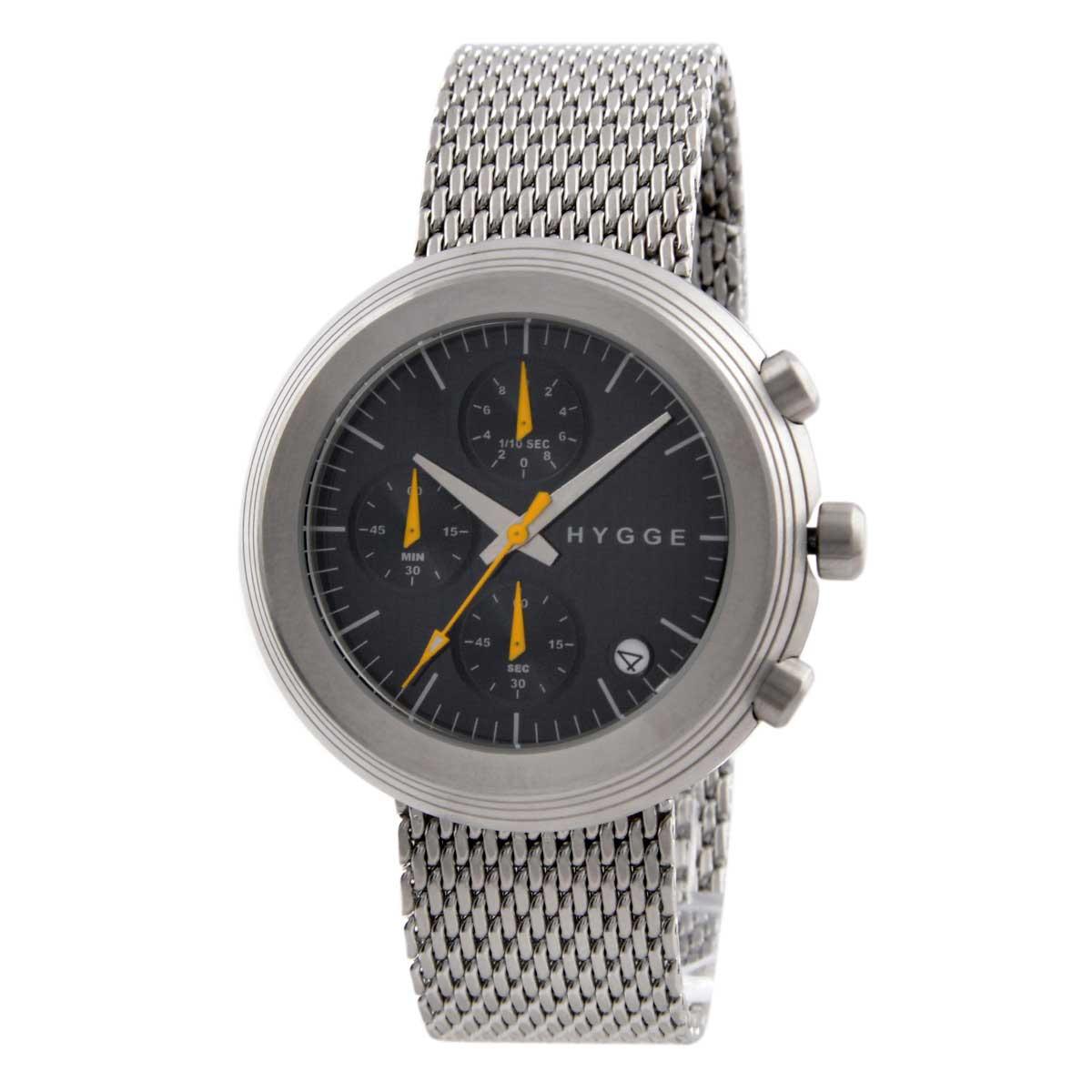 ヒュッゲ HYGGE メッシュ MSM2312C(BK) ユニセックス メンズ レディース 腕時計