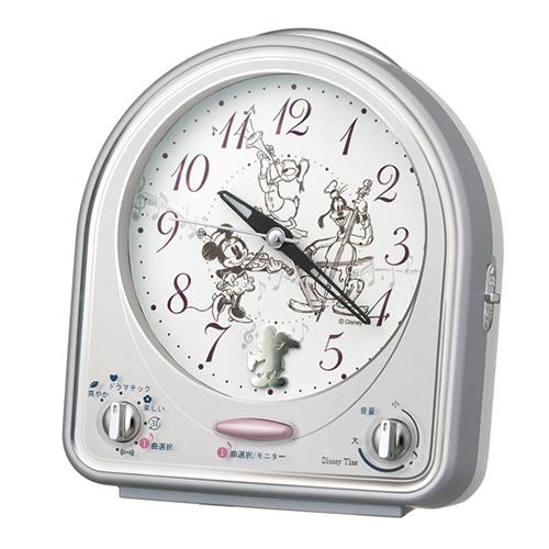 セイコークロック ディズニー ミッキー&フレンズ 目覚まし時計 キャラクタークロック 置時計 FD464S SEIKO 正規品【キャッシュレス5%還元】【プレゼントにおすすめ】【時計・雑貨の通販サイトFLOAT】