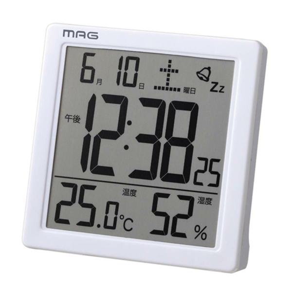 割引クーポン配布中 プレゼントにおすすめ 時計と雑貨の通販サイトFLOAT ノア精密 NOA 温湿度表示 カレンダー表示 置時計 目覚まし時計 WH-Z 正規品 T-726 倉庫 ご予約品 カッシーニ