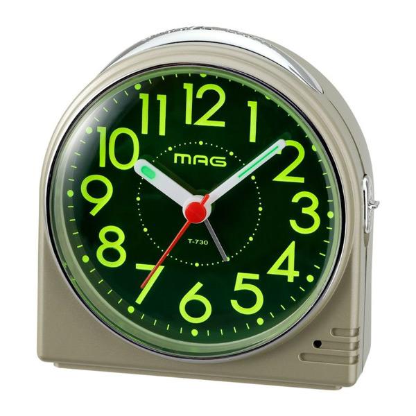 割引クーポン配布中 まとめ買い特価 プレゼントにおすすめ 時計と雑貨の通販サイトFLOAT ノア精密 NOA コンパクト 目覚まし時計 T-730 CGM-Z 正規品 蛍 ホタル 置時計 お洒落