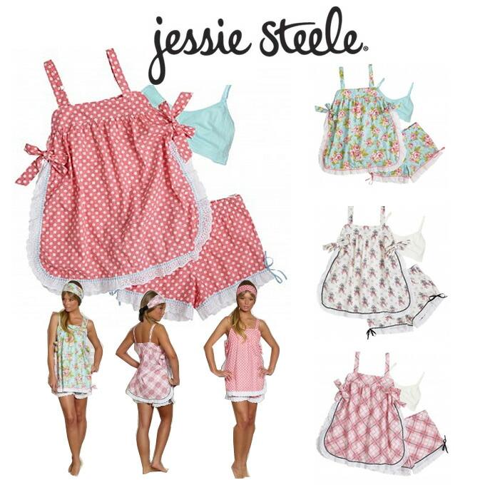 春の新作 メール便なら送料無料 可愛いジェシースティールのパジャマ ジェシースティール パジャマ 可愛い jessie ルームウェアー セール品 steel レディース ルームウェア 上下セット コットン