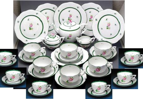 ヘレンド ウィーンのバラセットでお得【ヘレンド】ウィーンのバラ ティータイムセットB食器セット【結婚祝】【出産祝】【退職祝】【引越祝】【還暦祝】【記念品】