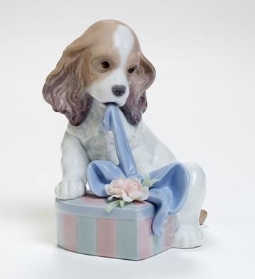 リヤドロ人形【リヤドロ】待ちきれなくて8312【結婚祝】【出産祝】【退職祝】【引越祝】【還暦祝】【記念品】