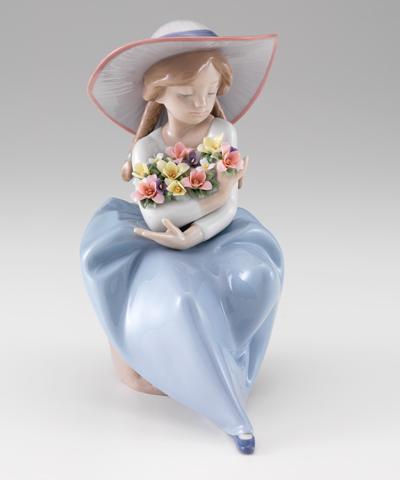 リヤドロ人形【リヤドロ】花の香りに包まれて5862【結婚祝】【出産祝】【退職祝】【引越祝】【還暦祝】【記念品】