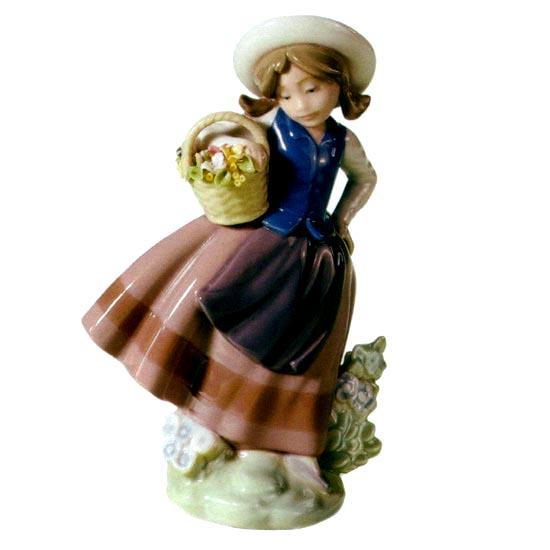 リヤドロ人形【リヤドロ】甘い花の香り5221【結婚祝】【出産祝】【退職祝】【引越祝】【還暦祝】【記念品】