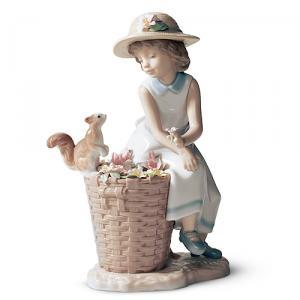 リヤドロ人形【リヤドロ】森の出会い 6825リヤドロ少女【結婚祝】【出産祝】【退職祝】【引越祝】【還暦祝】【記念品】