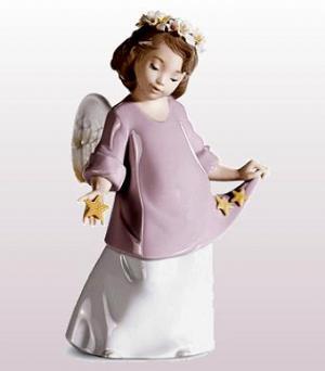 リヤドロ人形リヤドロ天使【リヤドロ】星の天使6924【結婚祝】【出産祝】【退職祝】【引越祝】【還暦祝】【記念品】