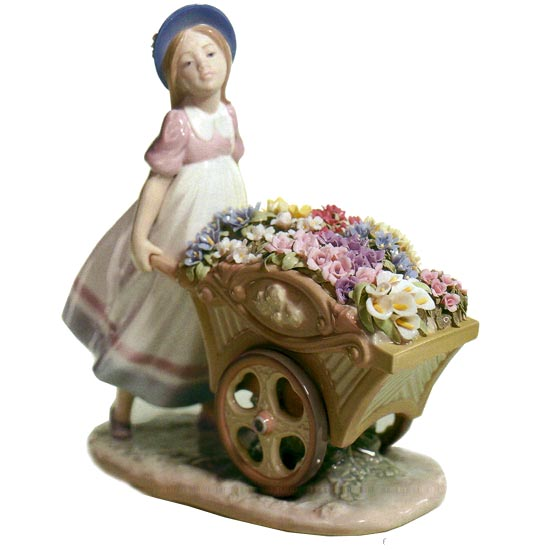 リヤドロ人形【リヤドロ】かわいいお花屋さん6521【結婚祝】【出産祝】【退職祝】【引越祝】【還暦祝】【記念品】