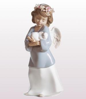 リヤドロ人形リヤドロ天使【リヤドロ】天使の宝物6856【結婚祝】【出産祝】【退職祝】【引越祝】【還暦祝】【記念品】