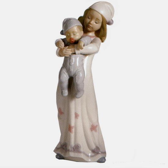 リヤドロ人形【リヤドロ】一緒にベッドへ8019【結婚祝】【出産祝】【退職祝】【引越祝】【還暦祝】【記念品】