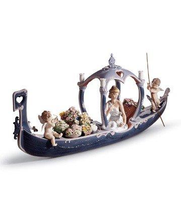 リヤドロ人形【リヤドロ】女神のゴンドラ1870【結婚祝】【出産祝】【退職祝】【引越祝】【還暦祝】【記念品】