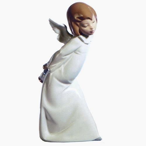 リヤドロ人形リヤドロ天使 【リヤドロ】天使の考え事(わかってきたぞ)4960【結婚祝】【出産祝】【退職祝】【引越祝】【還暦祝】【記念品】