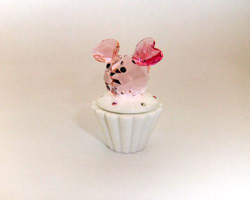 スワロフスキー置物【SWAROVSKI】スワロフスキー カップケーキボックスネズミ1194042【結婚祝】【出産祝】【退職祝】【引越祝】【還暦祝】【記念品】