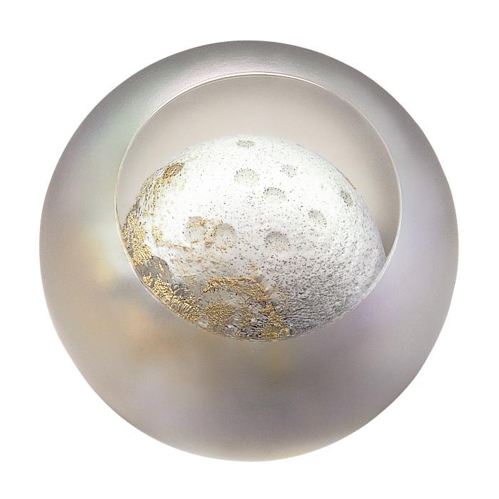 LEDインテリアライト【MOON - 月 --】天体シリーズフロアライト 間接照明-グラス・アイ・スタジオ【結婚祝】【出産祝】【退職祝】【引越祝】【還暦祝】【記念品】