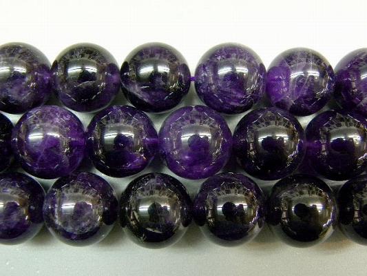 天然石20mm half-a2014 アメジスト 半連 約18-20cm (石・天然石・パワーストーン)