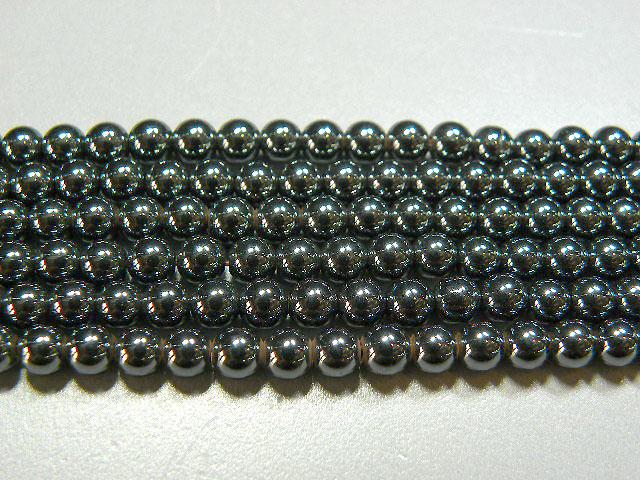 天然石4.5mm a0418 ヘマタイト 約38-40cm(石・天然石・パワーストーン)