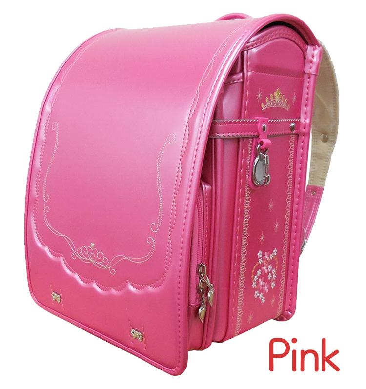 スーパーSALE10%OFF対象 日本製 送料無料 返品保証 6年保証 女の子 ピンク ピンク オレンジ ランドセル 自動ロック 保証 らんどせる 国産素材採用 A4フラットファイル対応 A4 軽い A4クリアファイル ワンタッチロック pink Peral Flower