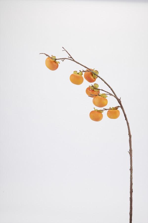 アートフラワー 柿枝(柿×7) @900×12コセット J0432 《2018vid》|造花 アーティフィシャルフラワー お手入れ不要 アレンジ オータム