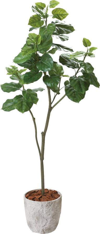 アートフラワー ウンベラータ1.8m グリーン @21600x1コセット GLPS-2002 《2018ds》 | 造花 お手入れ不要 アレンジ 観葉植物 グリーン インテリアグリーン 室内 ディスプレイ お手軽 装飾 飾り 花資材 グリーンポット 花材 ウンベラータ
