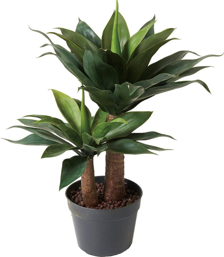 アートフラワー クラスターアガベポット グリーン @10800x1コセット GLP-1502 《2018ds》 | 造花 お手入れ不要 アレンジ 観葉植物 グリーン インテリアグリーン 室内 ディスプレイ お手軽 装飾 飾り 花資材 グリーンポット 花材 クラスターアガベ