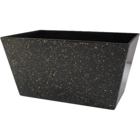 N-250 お正月プラ花器(ブラック/ゴールドドット) 8コセット 《201920mass》| アレンジメント フラワー グリーン 多肉 花資材 器 花器 園芸 お正月