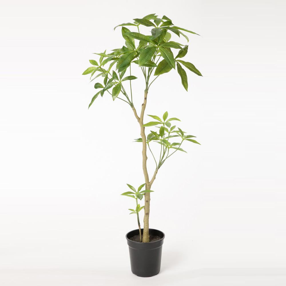 スーパーSALEセール対象 観葉植物 P4699 パキラ 1.15m ポットカバー(L)付 2020vk 人工観葉植物 フェイクグリーン イミテーション インテリア 開店祝 新築祝 敬老の日 造花 大型 観葉植物 おしゃれ 観葉植物 インテリア 送料無料