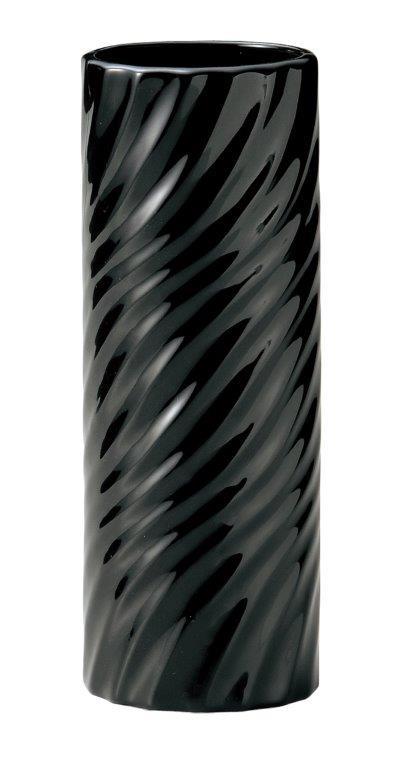 花資材を卸価格で買えるフロロラッピング 陶器 BLACKWHITE花瓶 ブラック 6個セット 003-B-BK 2020green 低廉 往復送料無料 花瓶 ベース アレンジ グリーン シック ギフト モノトーン ディスプレイ 花器 フラワー