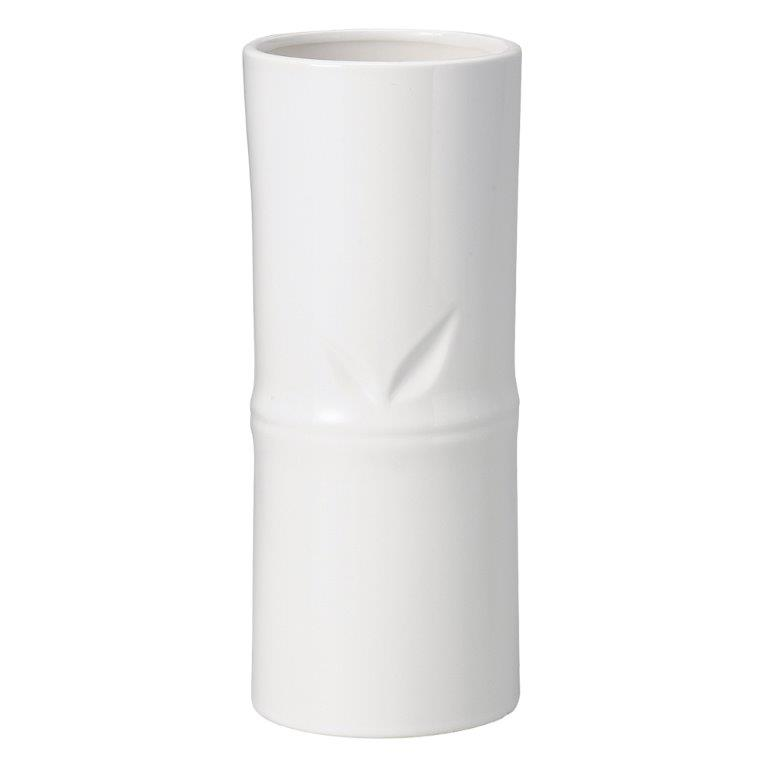 花資材を卸価格で買えるフロロラッピング 陶器 竹風花瓶L ホワイト 2個セット 019-A-WH 2020green 花瓶 ベース ディスプレイ シック フラワー 激安挑戦中 花器 バンブー アレンジ ギフト いよいよ人気ブランド グリーン