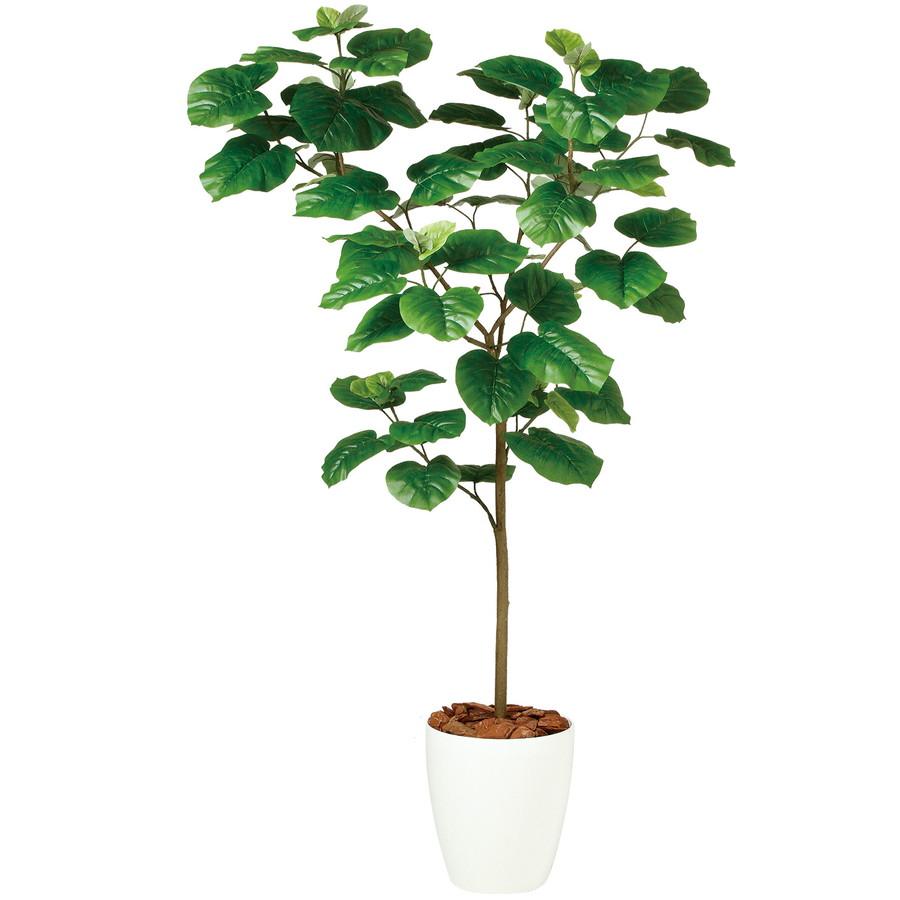 スーパーSALE10%OFF対象 人工観葉植物 ウンベラータ FST150(器:RP-265)99103|フェイクグリーン イミテーション インテリア 開店祝 新築祝 敬老の日 造花 観葉植物 大型 観葉植物 おしゃれ 観葉植物 インテリア 《2018ds》