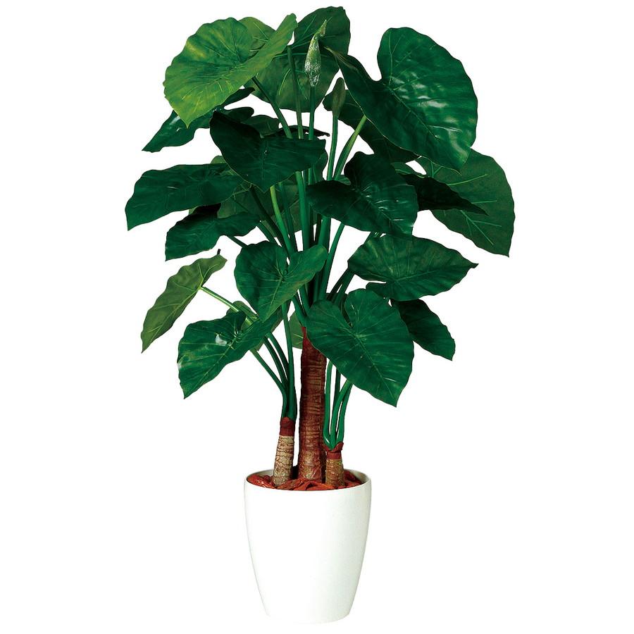 人工観葉植物 クワズイモ トリプル 130 (器:RP-265) 98869|フェイクグリーン イミテーション インテリア オフィス 店舗 造花 観葉植物 大型 観葉植物 おしゃれ 観葉植物 インテリア 《2018ds》