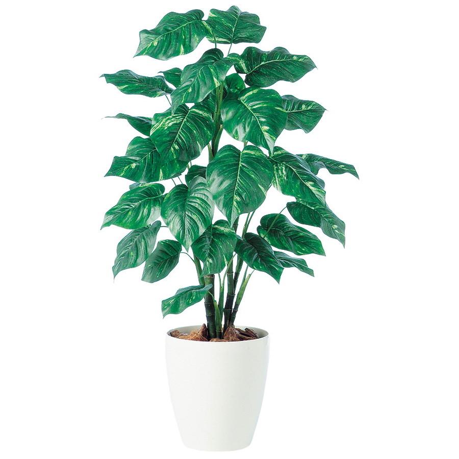 スーパーSALEセール対象 人工観葉植物 ポトス R 110 (器:RP-265) 91328|フェイクグリーン イミテーション インテリア オフィス 店舗 造花 おしゃれ 観葉植物 大型 観葉植物 おしゃれ 観葉植物 インテリア 《2018ds》