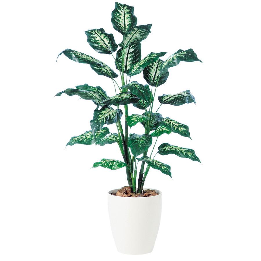 スーパーSALE10%OFF対象 人工観葉植物 ディフェンバギア R 120 (器:RP-265) 91340|フェイクグリーン イミテーション インテリア オフィス 店舗 造花 おしゃれ 観葉植物 大型 観葉植物 おしゃれ 観葉植物 インテリア 《2018ds》